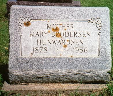 HUNWARDSEN, MARY - Jones County, Iowa | MARY HUNWARDSEN
