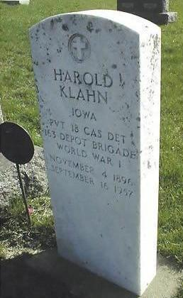 KLAHN, HAROLD - Jones County, Iowa | HAROLD KLAHN