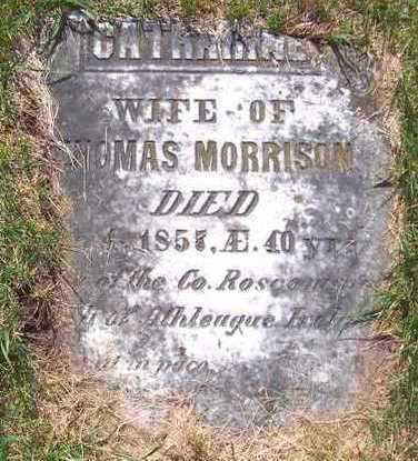 MORRISON, CATHARINE - Jones County, Iowa | CATHARINE MORRISON