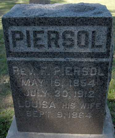 PIERSOL, REV. F. - Jones County, Iowa | REV. F. PIERSOL