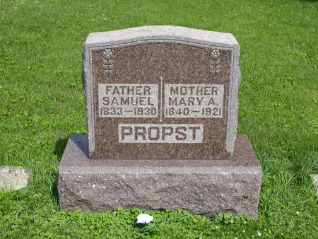 PITSENBARGER PROPST, MARY ANN - Jones County, Iowa | MARY ANN PITSENBARGER PROPST