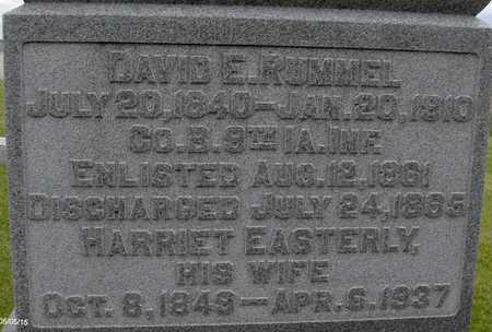 EASTERLY RUMMEL, HARRIET - Jones County, Iowa | HARRIET EASTERLY RUMMEL
