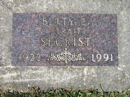 STRAIT SECRIST, BETTY E. - Jones County, Iowa | BETTY E. STRAIT SECRIST