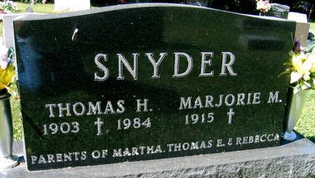 SNYDER, THOMAS H. - Jones County, Iowa | THOMAS H. SNYDER