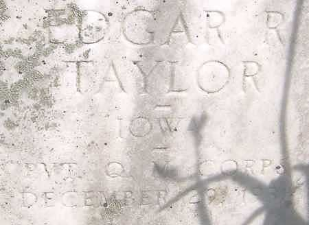 TAYLOR, EDGAR R. - Jones County, Iowa | EDGAR R. TAYLOR