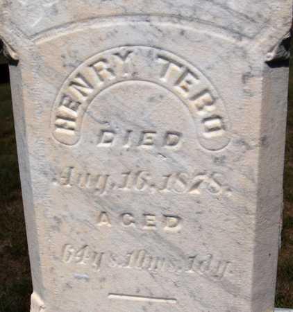 TEBO, HENRY - Jones County, Iowa   HENRY TEBO