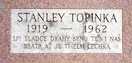 TOPINKA, STANLEY - Jones County, Iowa   STANLEY TOPINKA