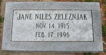 NILES ZELEZNJAK, JANE - Jones County, Iowa | JANE NILES ZELEZNJAK