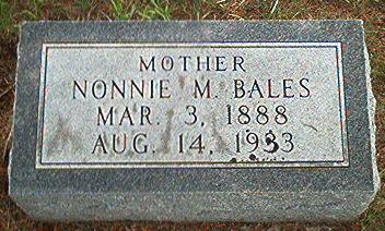 BALES, NONNIE M. - Keokuk County, Iowa | NONNIE M. BALES