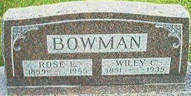 BOWMAN, ROSE E. - Keokuk County, Iowa | ROSE E. BOWMAN