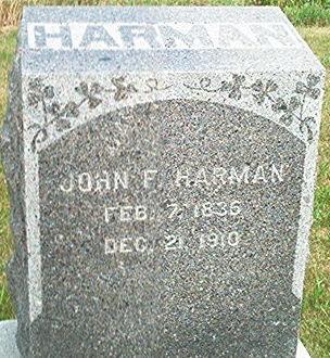 HARMAN, JOHN F. - Keokuk County, Iowa | JOHN F. HARMAN