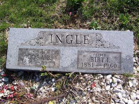 HILL INGLE, CORA B. - Keokuk County, Iowa | CORA B. HILL INGLE