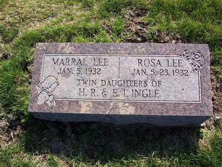 INGLE, ROSA LEE - Keokuk County, Iowa | ROSA LEE INGLE