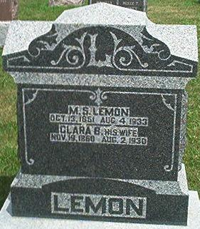 LEMON, CLARA S. - Keokuk County, Iowa | CLARA S. LEMON