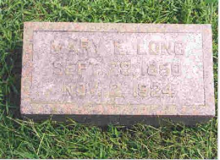 LONG, MARY ELIZABETH - Keokuk County, Iowa | MARY ELIZABETH LONG