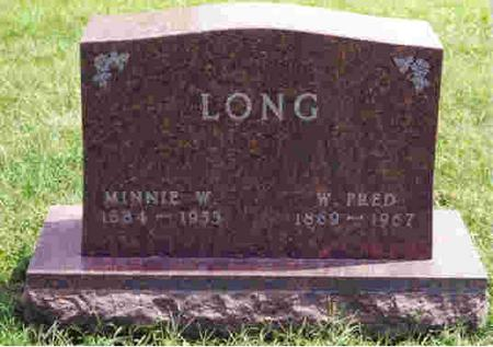 LONG, MINNIE - Keokuk County, Iowa | MINNIE LONG