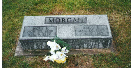 MORGAN, NORA B - Keokuk County, Iowa | NORA B MORGAN
