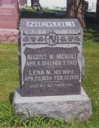 NICKOLI, AUGUST   W. - Keokuk County, Iowa | AUGUST   W. NICKOLI