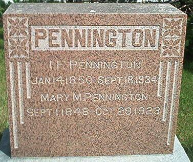 PENNINGTON, MARY M. - Keokuk County, Iowa | MARY M. PENNINGTON
