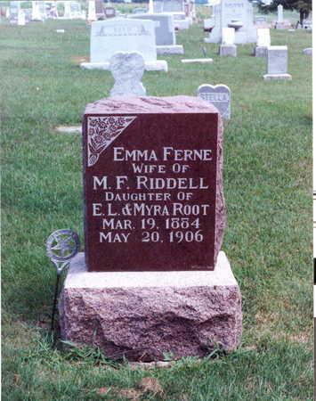 ROOT RIDDELL, EMMA FERNE - Keokuk County, Iowa | EMMA FERNE ROOT RIDDELL