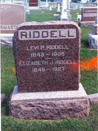 RIDDELL, ELIZABETH J. - Keokuk County, Iowa | ELIZABETH J. RIDDELL
