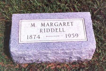 RIDDELL, MARY MARGARET - Keokuk County, Iowa | MARY MARGARET RIDDELL