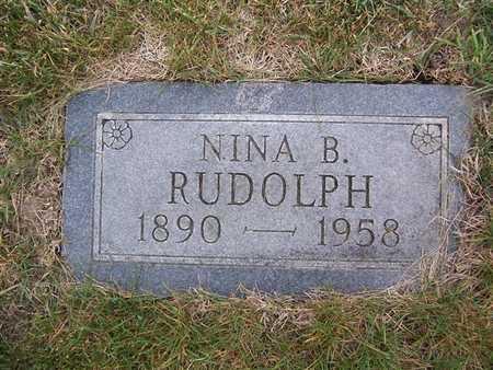 RUDOLPH, NINA B. - Keokuk County, Iowa | NINA B. RUDOLPH