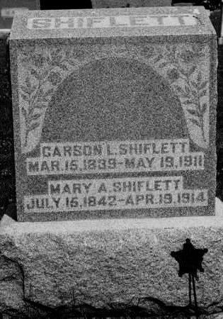 SHIFLETT, MARY - Keokuk County, Iowa | MARY SHIFLETT