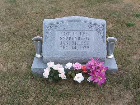 SNAKENBERG, LOTTIE LEE - Keokuk County, Iowa | LOTTIE LEE SNAKENBERG