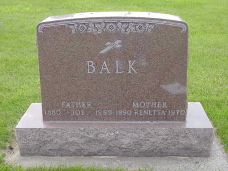 BALK, JOE - Kossuth County, Iowa | JOE BALK