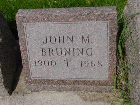 BRUNING, JOHN M. - Kossuth County, Iowa | JOHN M. BRUNING