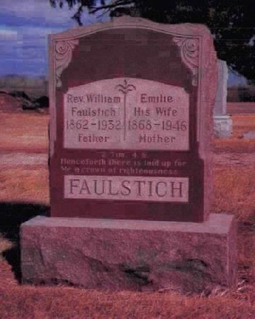 FAULSTICH, REV. WILLIAM - Kossuth County, Iowa | REV. WILLIAM FAULSTICH