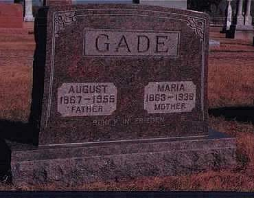 GADE, AUGUST - Kossuth County, Iowa | AUGUST GADE