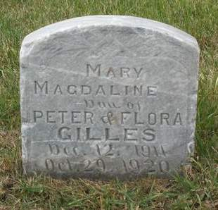 GILLES, MARY MAGDALINE - Kossuth County, Iowa | MARY MAGDALINE GILLES
