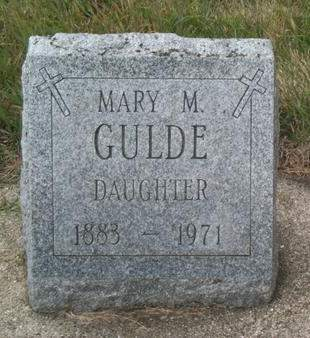GULDE, MARY M. - Kossuth County, Iowa | MARY M. GULDE