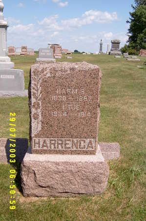 HARRENGA, ETJE (ETTINA) - Kossuth County, Iowa | ETJE (ETTINA) HARRENGA