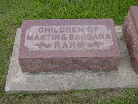 RAHM, CHILDREN OF MARTIN & BARBARA RAHM - Kossuth County, Iowa | CHILDREN OF MARTIN & BARBARA RAHM RAHM
