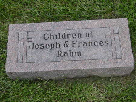 RAHM, CHILDREN OF JOSEPH & FRANCES RAHM - Kossuth County, Iowa | CHILDREN OF JOSEPH & FRANCES RAHM RAHM