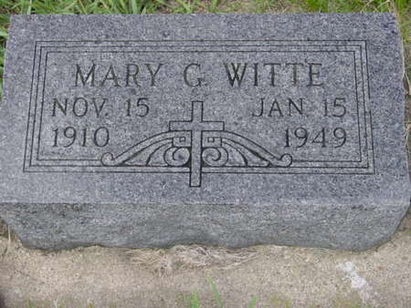 WITTE, MARY G. - Kossuth County, Iowa | MARY G. WITTE
