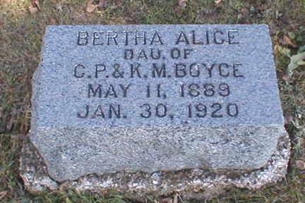 BOYCE, BERTHA ALICE - Lee County, Iowa | BERTHA ALICE BOYCE