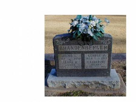 BRANDENBERGER, JACOB G., CLARA H. - Lee County, Iowa | JACOB G., CLARA H. BRANDENBERGER