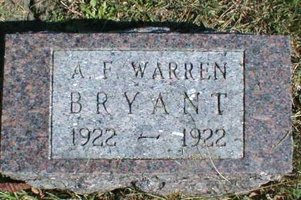 BRYANT, A. F. WARREN - Lee County, Iowa | A. F. WARREN BRYANT