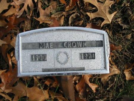 CROWN, MAE - Lee County, Iowa   MAE CROWN