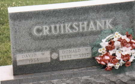 CRUIKSHANK, DONALD W. - Lee County, Iowa | DONALD W. CRUIKSHANK