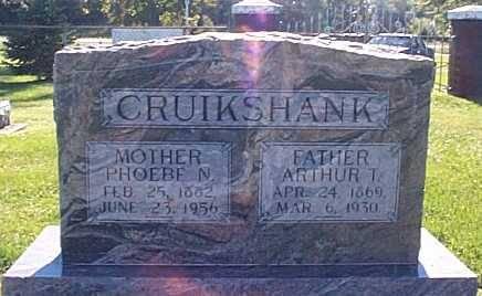 CRUIKSHANK, PHOEBE N. & ARTHUR T. - Lee County, Iowa | PHOEBE N. & ARTHUR T. CRUIKSHANK