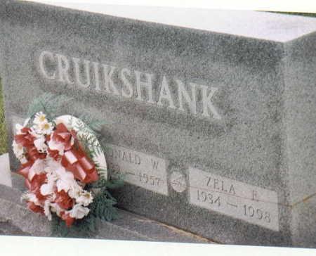 CRUIKSHANK, ZELA F - Lee County, Iowa | ZELA F CRUIKSHANK