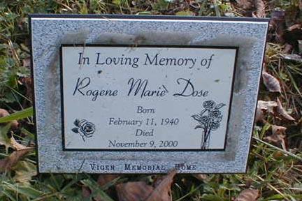 DOSE, ROGENE MARIE - Lee County, Iowa | ROGENE MARIE DOSE