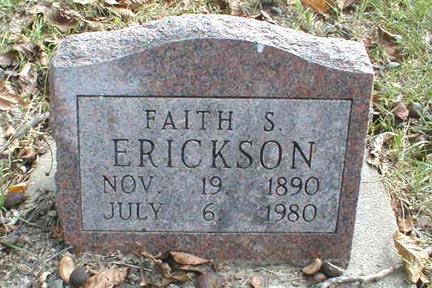 ERICKSON, FAITH S. - Lee County, Iowa | FAITH S. ERICKSON