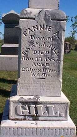 GILL, FANNIE A. - Lee County, Iowa   FANNIE A. GILL