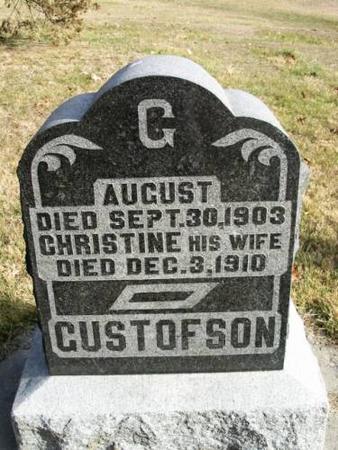 GUSTOFSON, AUGUST & CHRISTINE - Lee County, Iowa | AUGUST & CHRISTINE GUSTOFSON